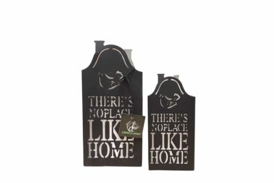 Theelichthouder – There Is No Place Like Home – Set 2 Stuks